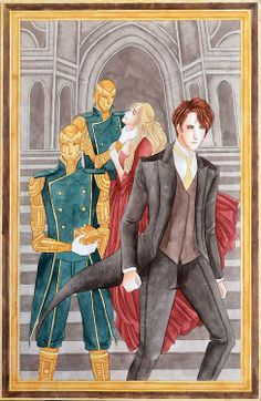 Nate Gray, Jessamine Lovelace, and some automatons. From The Infernal Devices by Cassandra Clare by sheehanmebaby