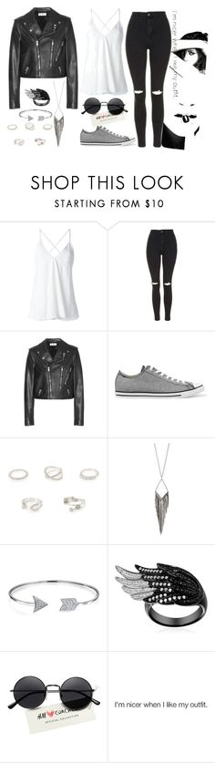 """Untitled #518"" by sarah-jpgd ❤ liked on Polyvore featuring Dondup, Topshop, Yves Saint Laurent, Converse, River Island, Jules Smith, Bling Jewelry and Chanel"
