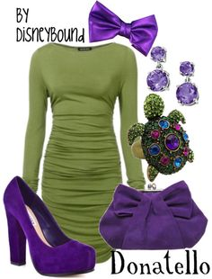 OMG Ninja Turtle inspired outfits! :) Donatello was my favorite when I was a kid.