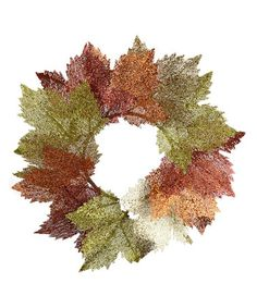 Love this Glitzy Maple Leaf Wreath on #zulily! #zulilyfinds
