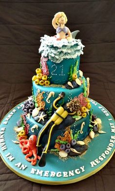 Under The Sea, Scuba Diving Cake