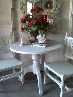 Guildmaster Shabby Chic Dropleaf table and Shabby Chic chairs
