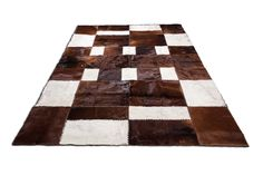 """Rectangular Hair-on-Hide PATCHWORK RUG 6'6"""" x 9'10"""" / Hand-Made / Hand-Stitched / Hand-Tanned / Natural air dried / PREMIUM QUALITY / $2.349 / Shop at: https://www.chairish.com/shop/aydin"""