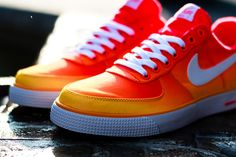 NIKE AIR FORCE 1 AC BR QS (ATOMIC MANGO) | Sneaker Freaker