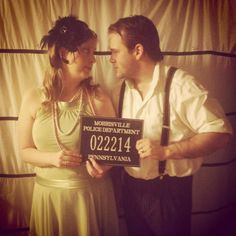 This past weekend we celebrated the End of the Roaring for my hubs and I, with a Speakeasy Birthday Party. My hubs turns 29 in Mar. 1920s Speakeasy, Speakeasy Party, Roaring 20s Theme, 1920s Wedding, Wedding Ideas, Prohibition Party, Party Like Gatsby, Bonnie N Clyde, Red Party