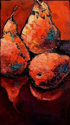 Three's Company, 9106 by Carol Nelson Acrylic ~ 11 x 6