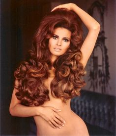 Amazing locks on one of the decade's leading sex symbols, Raquel Welch.