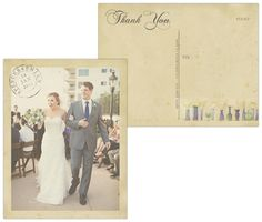 Forever Clever - Wedding Thank You Postcards