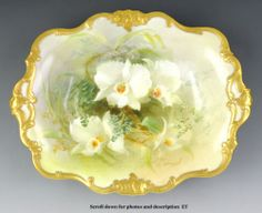 C1889 1919 Royal Doulton Porcelain Dewsberry Orchid Hand Painted Serving Dish   eBay