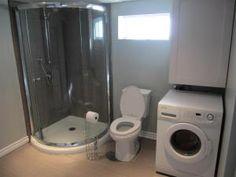 Basement laundry room/bathroom combo reveal.