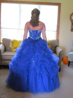 Dressed like a princess for her prom!!