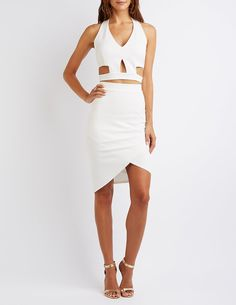 Cut-Out Crop Top & Skirt Hook-Up   Charlotte Russe