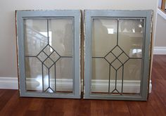 Nice Design with Leaded Glass Windows — Home Ceiling Inspirations Antique Windows, Vintage Windows, Old Windows, Vintage Mirrors, Antique Doors, Architectural Salvage, Architectural Elements, Old Window Frames, Window Ideas
