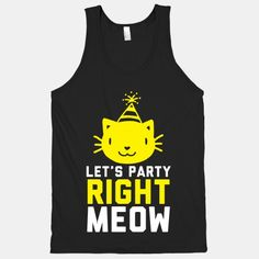 Let's+Party+Right+Meow+(White+Ink)