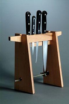 Super kitchen storage rack knife block ideas - Image 5 of 22 Knife Storage, Diy Storage, Kitchen Storage, Kitchen Organization, Freezer Organization, Storage Rack, Organization Ideas, Storage Ideas, Crea Design