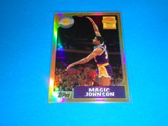 2001-02 Topps Magic Johnson Reprint 1986-87 Refractor *LAKERS: Card is #MJ5.  All cards in NRMINT-MINT condition. Any questions feel free to ask. SMOKE FREE HOME!  All cards are put in a top loader and shipped in a bubble wrapper envelope!  Be sure and check my store on a regular basis to see what new items I have posted. THANK YOU!...