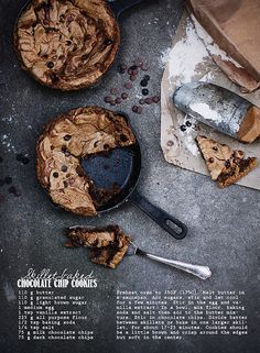 Skillet-baked chocolate chip cookies by Call me cupcake, via Flickr