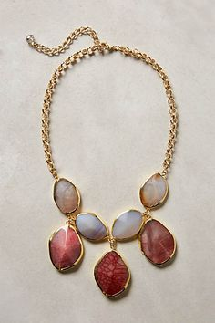 Gilded Agate Necklace Anthro $78