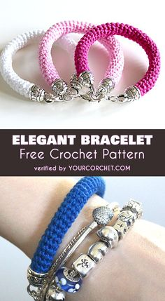 Elegant and Quick Bracelet Free Crochet Pattern #freecrochetpatterns #crochetjewelry