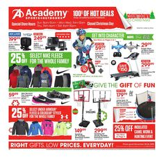 Academy Sports Weekly Ad December 20 - 26, 2015 - http://www.olcatalog.com/sports-toys/academy-sports-weekly-ad.html
