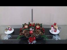 Centro de mesa de natal, faça você mesma! DIY Arranjo de natal - YouTube