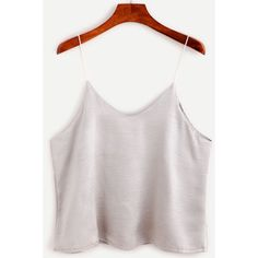Silver Swing Satin Cami Top (24 PEN) ❤ liked on Polyvore featuring tops,. Cami  Tank TopsWhite ...