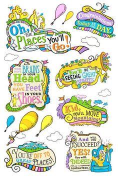 Eureka, Dr. Seuss™️ Oh, the Places You'll Go! Bulletin Board Set, 27 Pieces