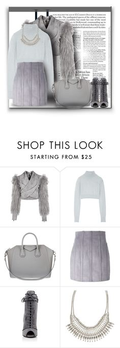 """""""S O L V E D"""" by byjjbh on Polyvore featuring Trilogy, Balmain, Givenchy, Prada, ALDO, Fall, New, gray, topset and byjjbh"""