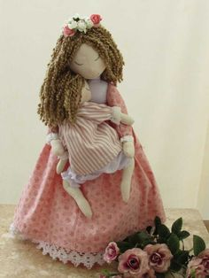Beautiful Dolls, Free Pattern, Crochet Hats, Flower Girl Dresses, Teddy Bear, Baby Shower, Homemade, Mini, Animals