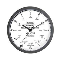 Here's an educational music clock for those who truly love music! This is a great gift for your favorite musician, band director, music conductor, or music teacher.