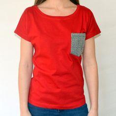 made in uganda Fair Trade Clothing, Herringbone, Organic Cotton, V Neck, Uganda, Tees, My Style, How To Make, Pocket