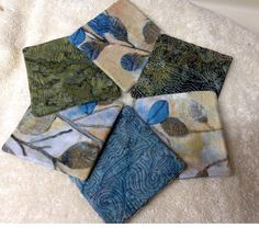 Have a Cuppa batik quilted coasters  Set of 6 by vschwam on Etsy, $15.00