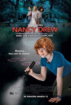 "Thanks to Ellen Degeneres for bringing back teen detective Nancy Drew in a new mystery entitled ""Nancy Drew and the Hidden Staircase."" The new movie stars Sophia Lillis as Nancy (remember her from … Laura Slade Wiggins, Nancy Drew Movie, Nancy Drew Books, Nancy Drew Libros, Robin Williams, Maisie Williams, New Movies, Movies Online, March Movies"