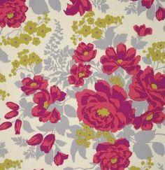 Stoff Blumen - Free Spirit - Joel Dewberry: Flora - Rose - Poppy  - ein Designerstück von pepelinchen bei DaWanda