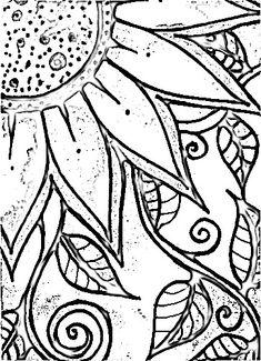 Sunflower Mosaic Pattern