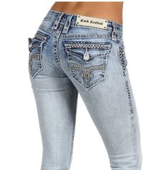 New Rock Revival Jeans Kate Boot Cut RJ8324 B2 Hot Rhinestones Flap Pocket