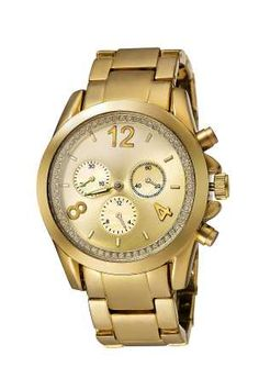 Gold Sports Watch With Crystal Effect