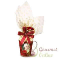Praline Mozart, Cana ceramica 12 bile, 204g Marzipan, Christmas Stockings, Gift Wrapping, Sweets, Mugs, Holiday Decor, Tableware, Gifts, Austria
