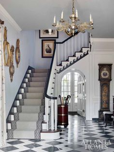 nice Atlanta Homes & Lifestyles' 2017 Southeastern Designer Showhouse – The Glam Pad medianet_width = medianet_height = medianet_crid = medianet_versionId = (function() { var isSSL = 'https:' == d. Stairs Skirting, Interior Exterior, Interior Design, Entryway Flooring, Contemporary Carpet, Atlanta Homes, House Entrance, Entrance Hall, Carpet Stairs