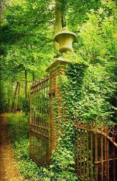 In my garden please. - bluepueblo: Ancient Castle Gate, Bruges, Belgium photo via cup Parks, Castle Gate, The Secret Garden, Garden Pictures, Fence Gate, Garden Gates, Dream Garden, Belle Photo, Beautiful Gardens