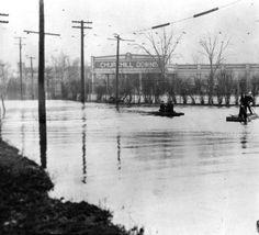 Louisville Flood Map Showing Flooded Area of Louisville