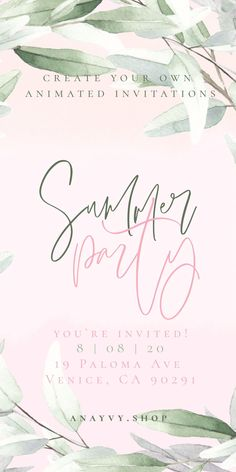 Watercolor Video, Gold Watercolor, Wreath Watercolor, Watercolor Invitations, Digital Invitations, Create Animation, First Animation, Electronic Save The Date, Line Art Design