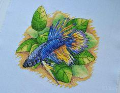 Cross Stitch Sea, Rooster, Fish, Animals, Punto De Cruz, Dots, Animales, Animaux, Pisces