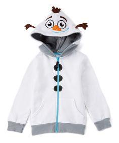 Look at this #zulilyfind! White Frozen Olaf Hoodie & Plush Toy - Toddler & Kids by Frozen #zulilyfinds