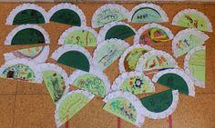 """Un año más y por estas fechas celebramos ·El Día de Andalucía"""". Para esta ocasión hemos realizado unos geniales abanicos con la ayuda de u... Kids Rugs, Crafts, Home Decor, Winter, Infant Crafts, Shop Displays, Creativity, Blue Prints"""