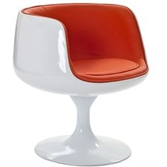 Cup Chair in Organge/Black/Red