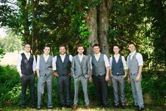 Mismatched groomsmen - A Beautiful Mess blog