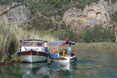 Rock-cut tombs above the Dalyan River, Turkey