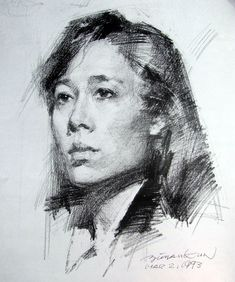 The Chinese have a strong tradition of portrait drawing, and the bookshops are full of large folios of drawings.   These portrait drawings ...
