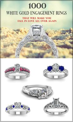 Discover why more women are choosing white gold engagement rings. Choose from this wide range of white gold diamond engagement rings